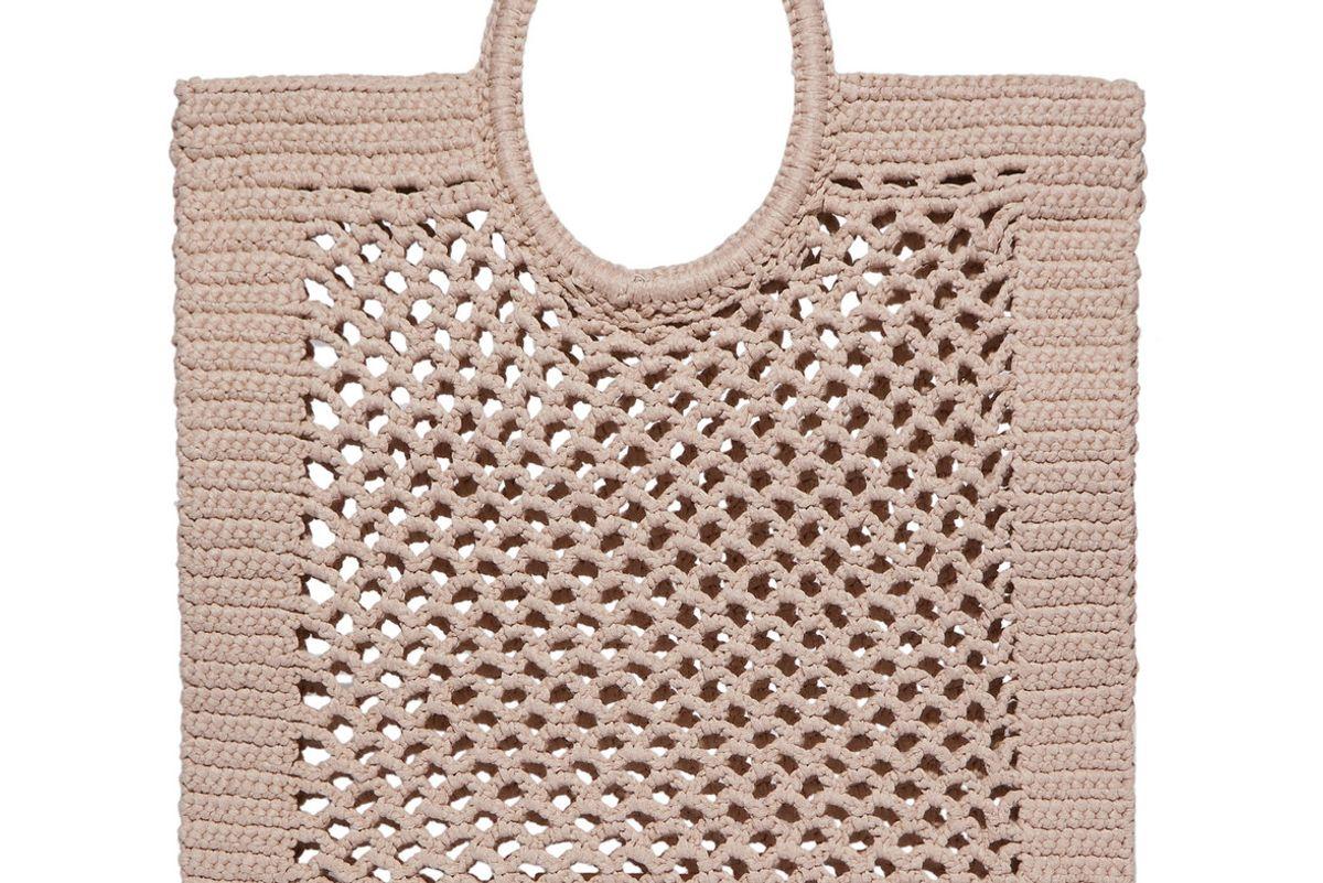 mizele sunbath crocheted cotton blend tote