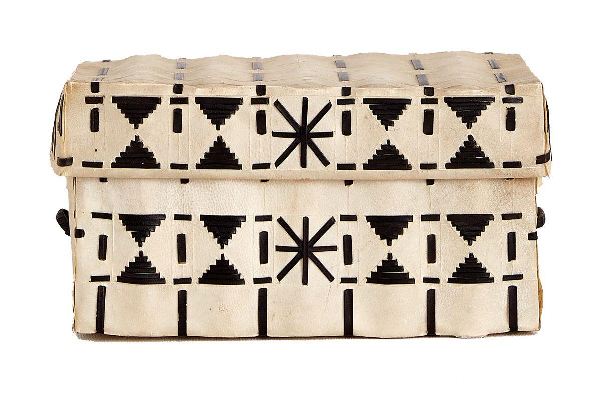 indian parchfleche box