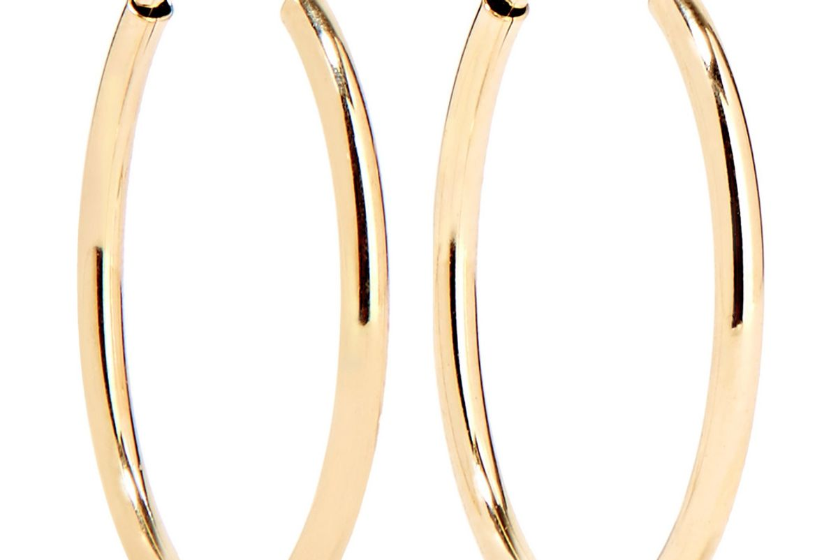 loren stewart infinity gold hoop earrings