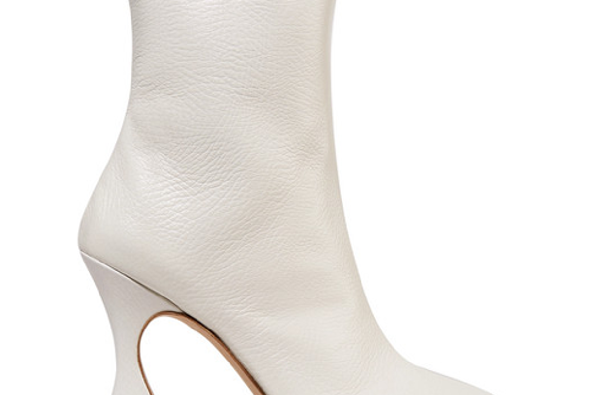 sies marjan emma textured leather ankle boots