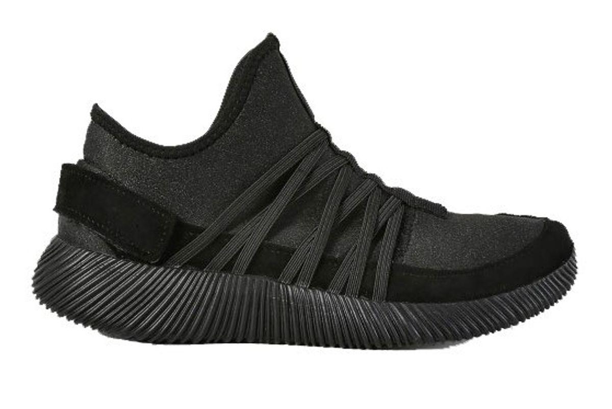 Textured Sole Slide On Sneakers Black