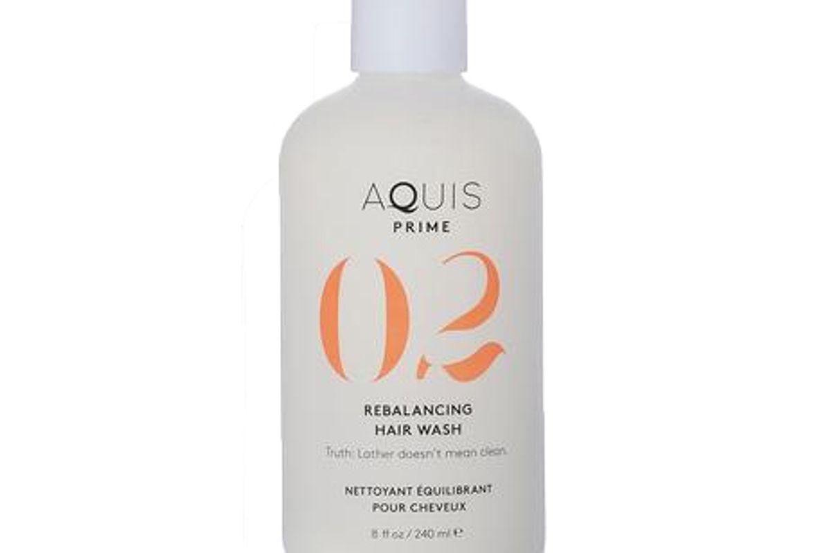 aquis 02 prime rebalancing hair wash