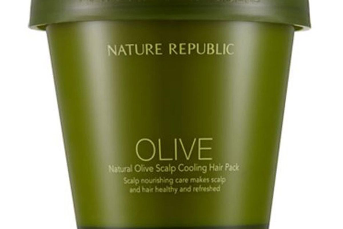Natural Olive Scalp Cooling Hair Pack