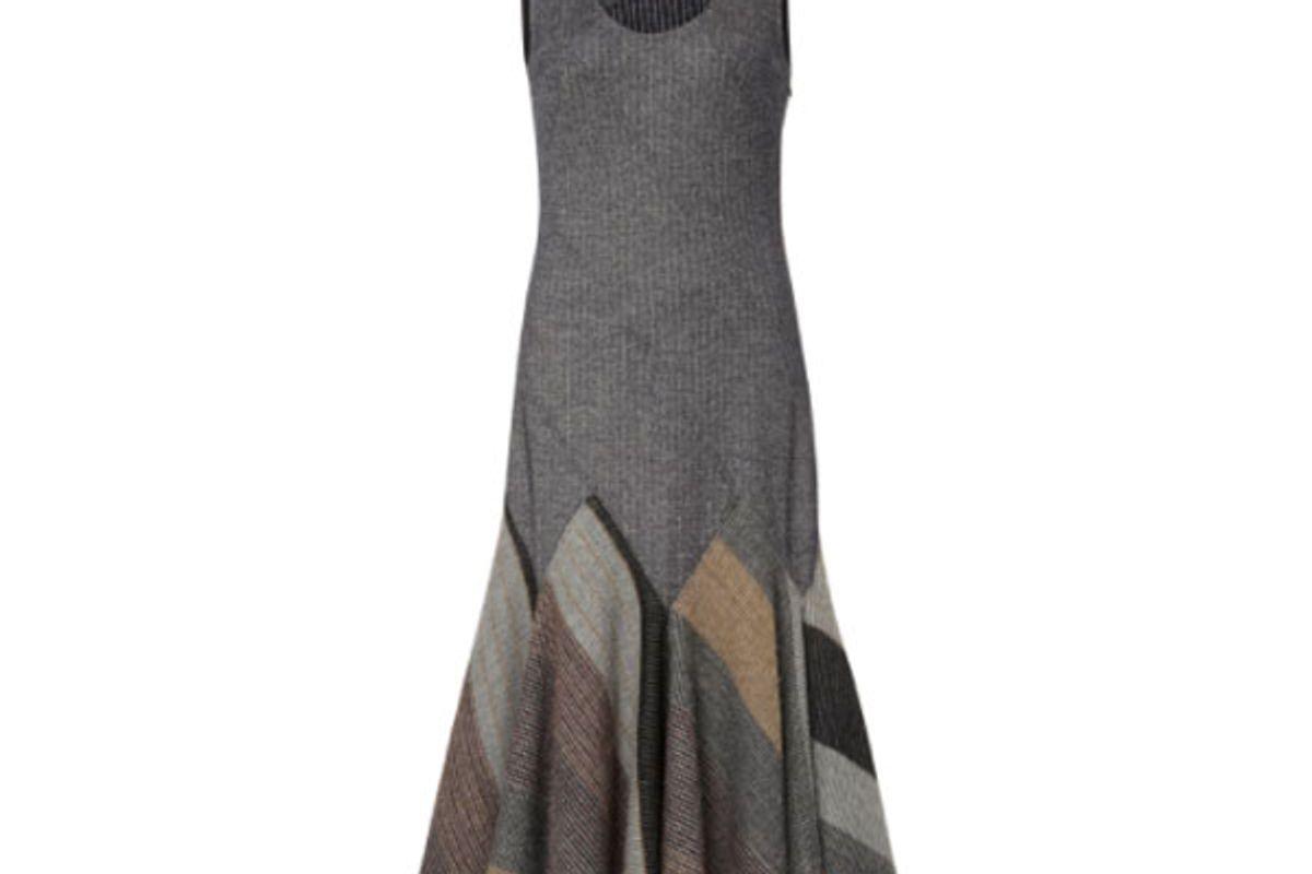 Check Blanket Godet Tank Dress