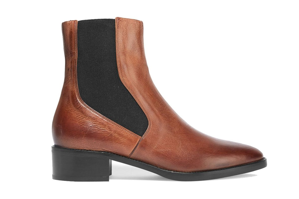 Carrington Burnished-Leather Chelsea Boots