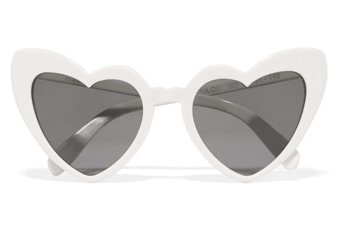 saint laurent loulou heart frame acetate sunglasses
