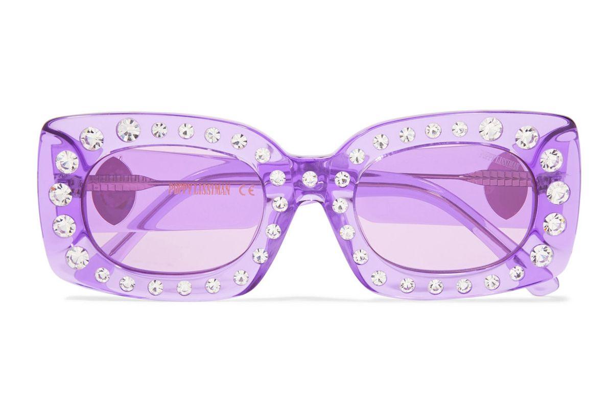 poppy lissman crystal beth square frame acetate sunglasses