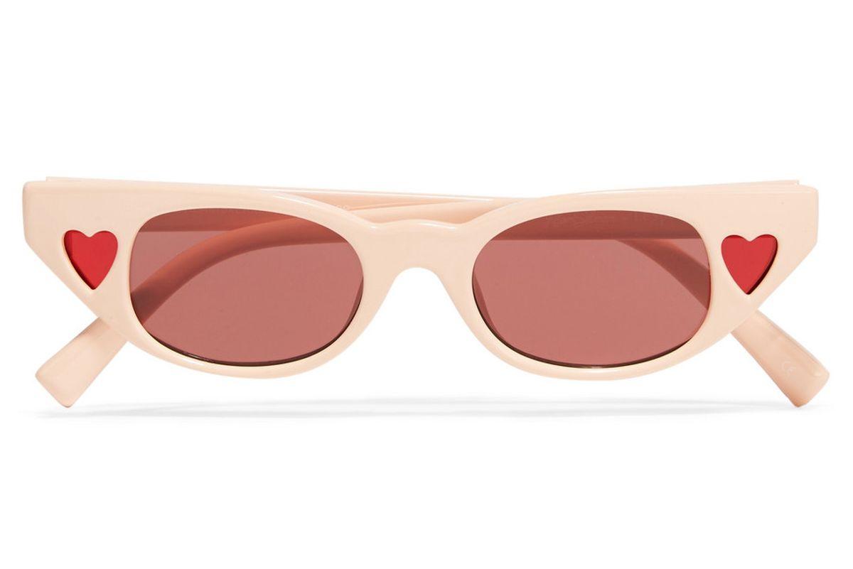 le specs adam selman the heartbreaker cat eye acetate sunglasses