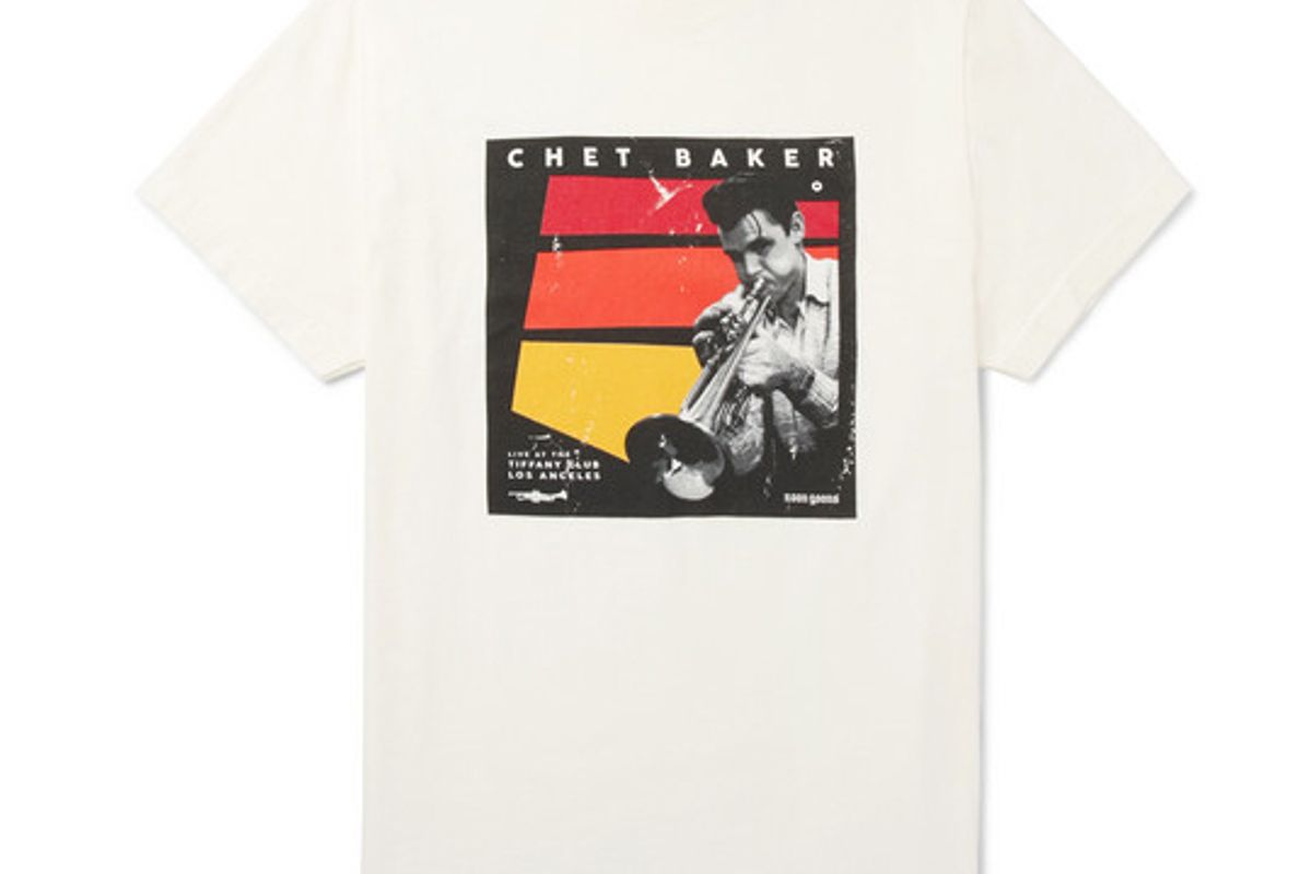 noon goons chet baker slim fit printed cotton jersey t-shirt