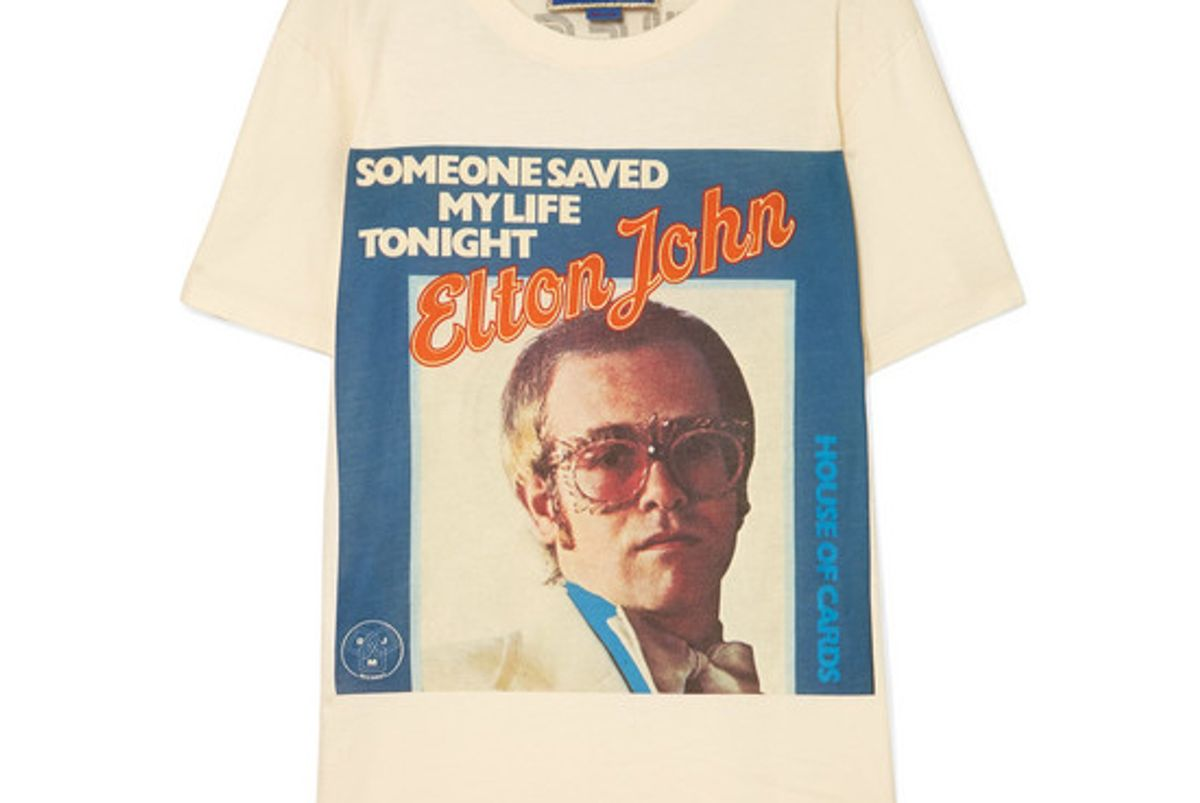 gucci elton john printed cotton jersey t-shirt