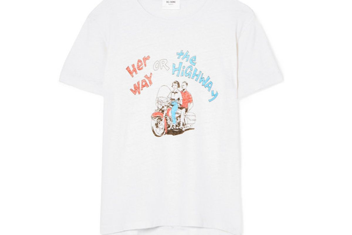 re done printed cotton jersey t-shirt
