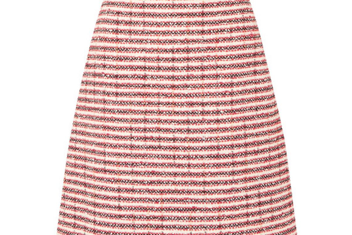 gucci embellished striped tweed skirt