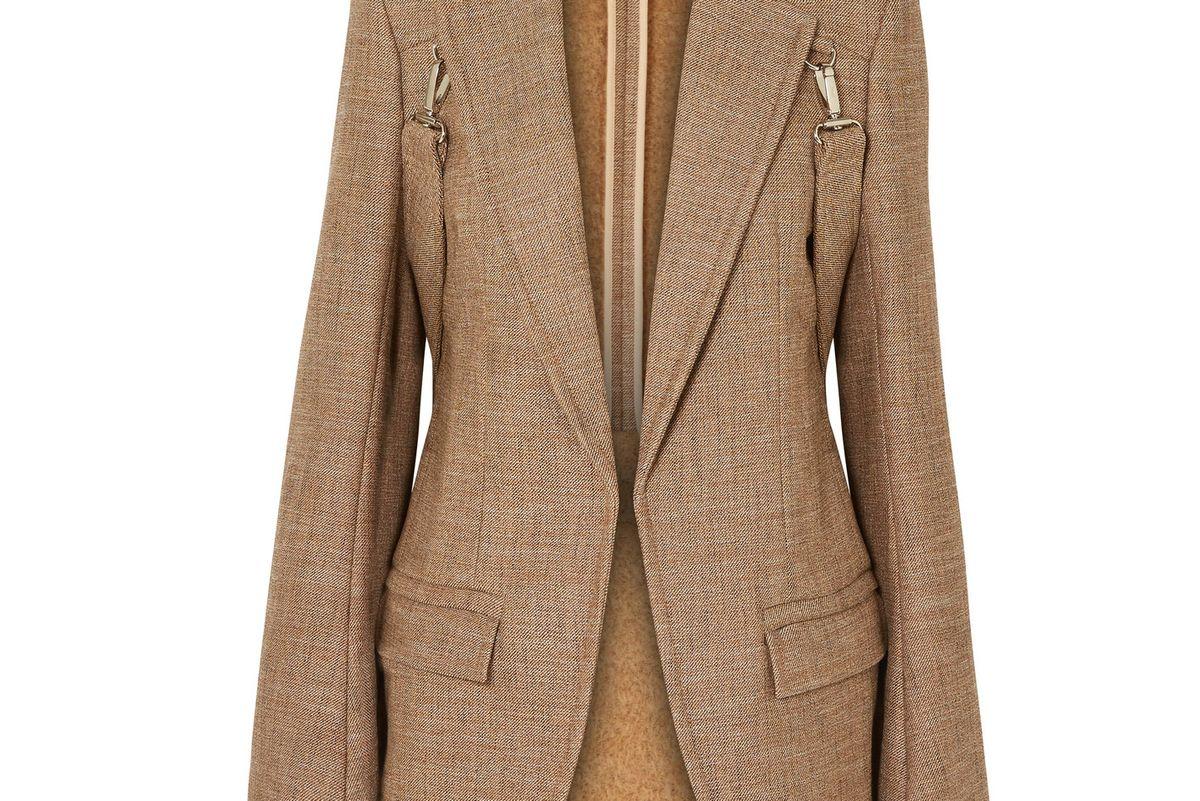 chloe buckled tweed blazer