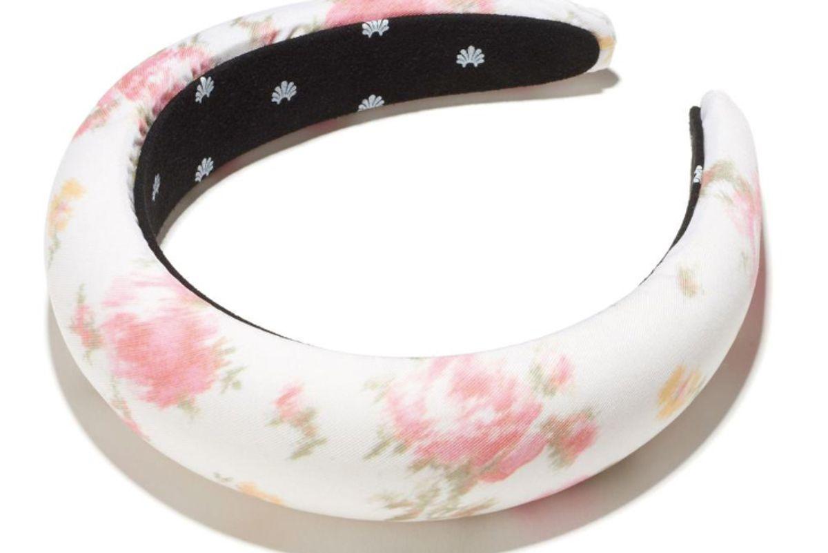 lele x lsf pink romance padded headband