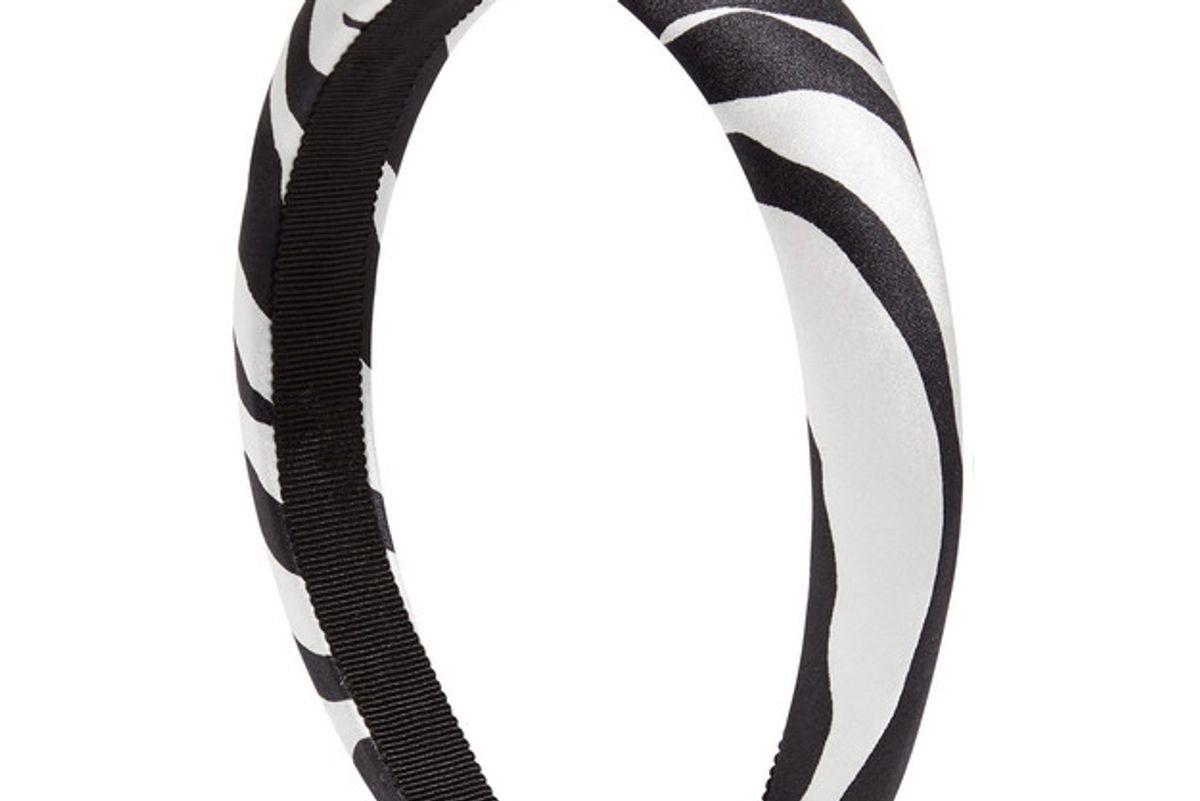 jennifer behr tori zebra print silk satin headband