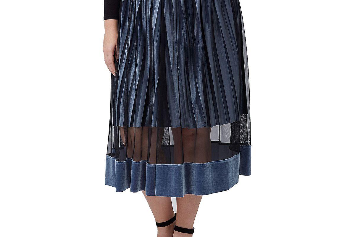 Fast Lane Velvet Illusion Midi Skirt