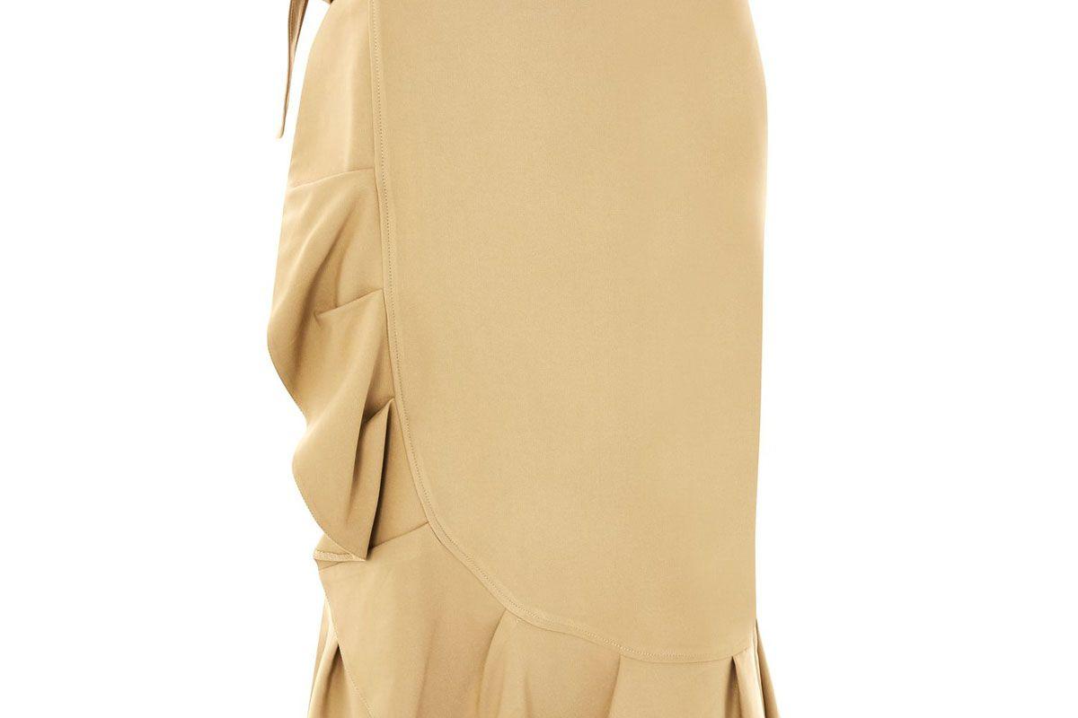 Tall Cotton Frill Midi Skirt