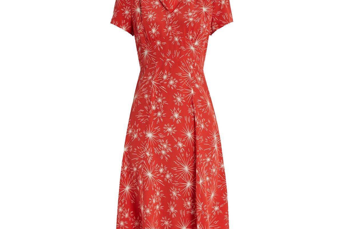 Morgan Firework-Print Short-Sleeved Dress