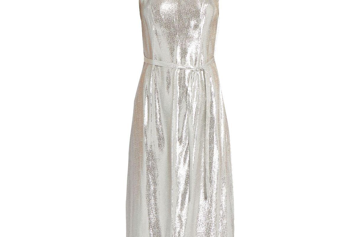Sleeveless Lamé Slip Dress
