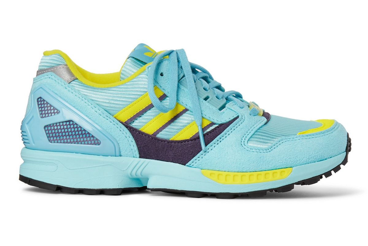 adidas zx 800 suede and mesh sneakers