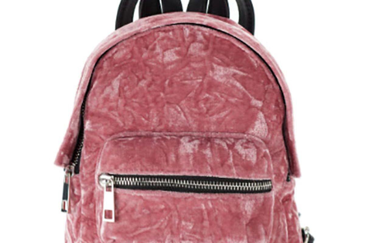 James Crushed Velvet Mini Backpack