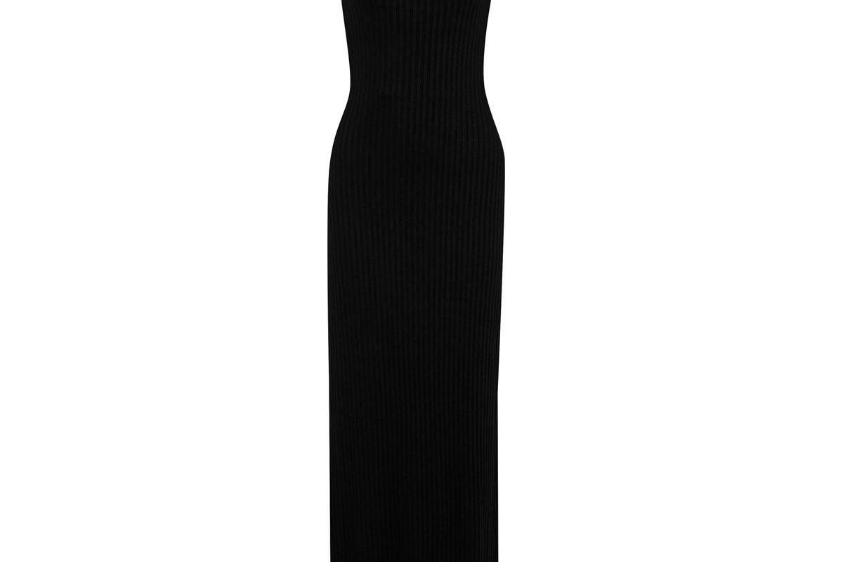 the range ribbed knit maxi dress