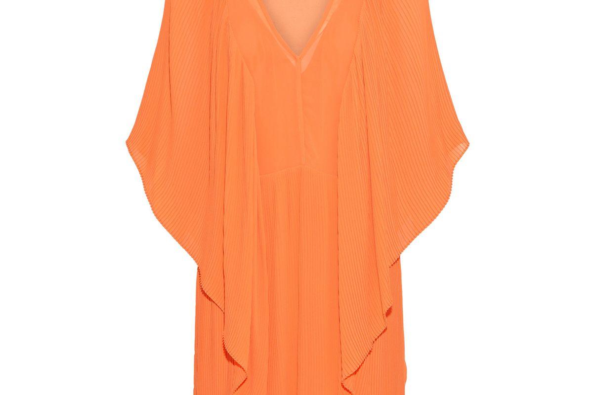 by malene birger draped plisse chiffon mini dress