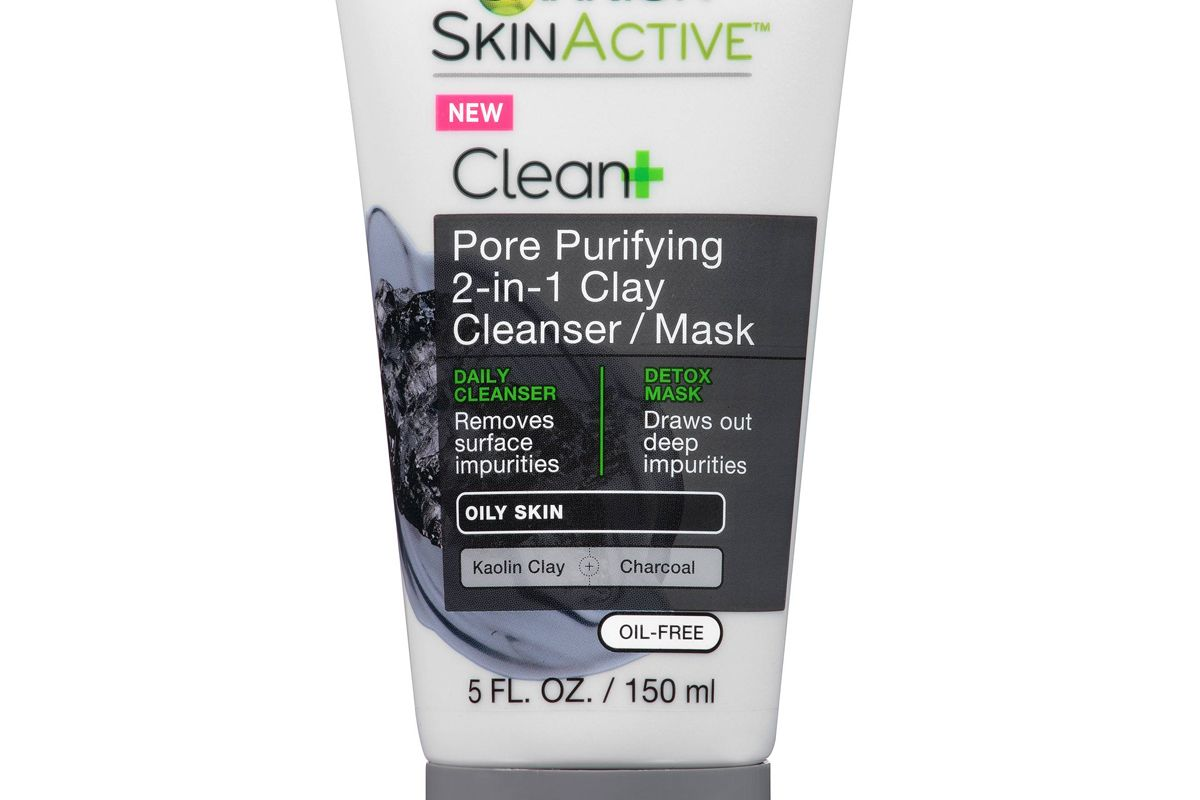 SkinActive Clean+ Pore Purifying 2-in-1 Clay Cleanser/Mask