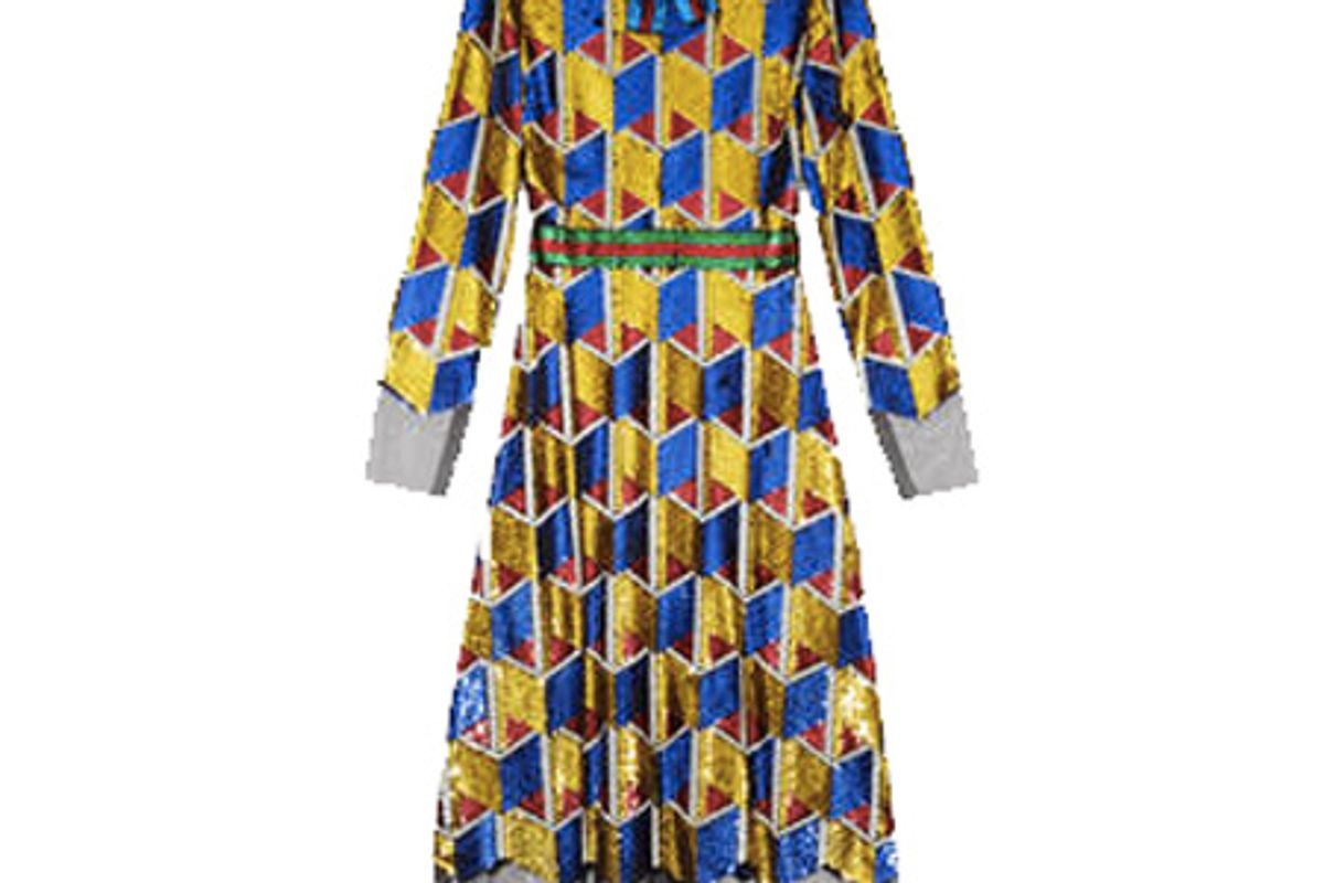 Sequin Graphic Dress