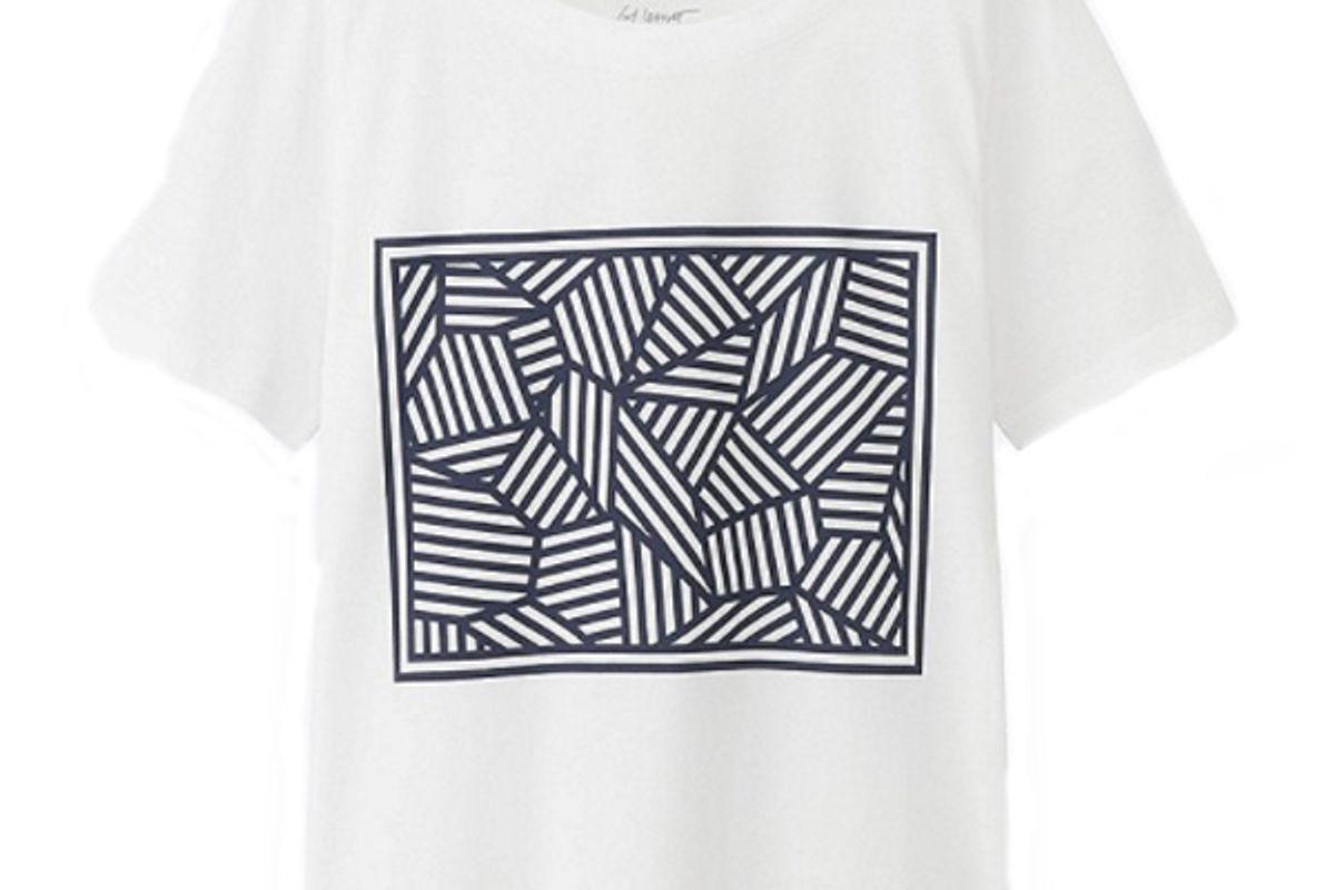 Women SPRZ NY Super Geometric Graphic T-Shirt (Sol Lewitt) in White