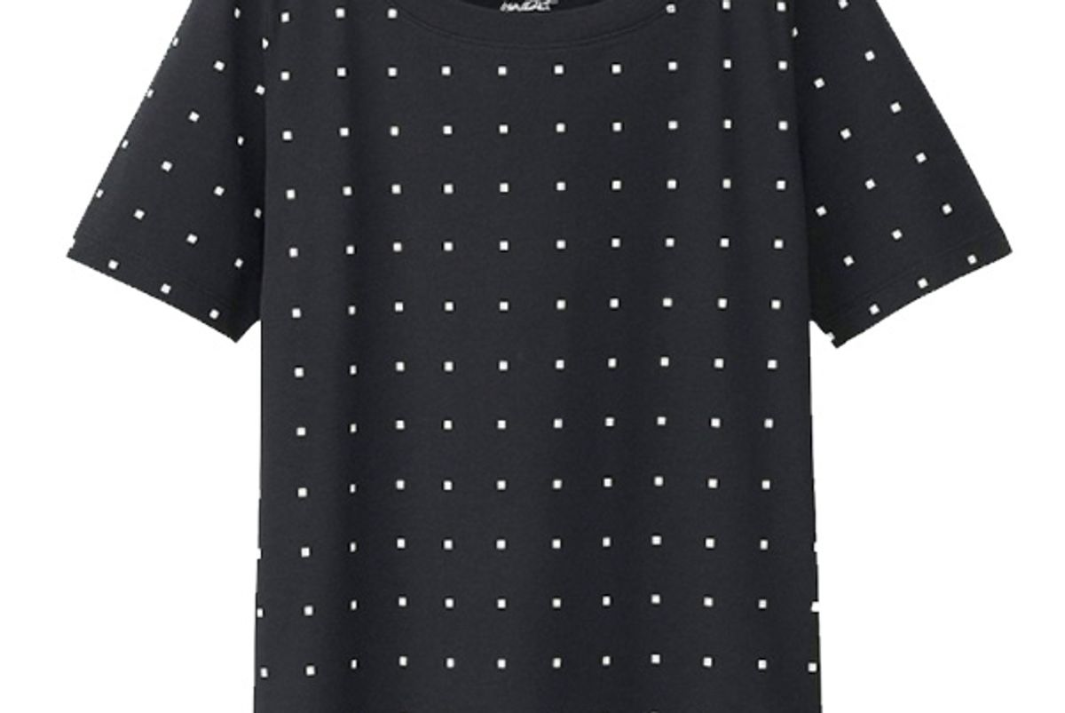 Women SPRZ NY Super Geometric Graphic T-Shirt (Francois Morellet) in Black