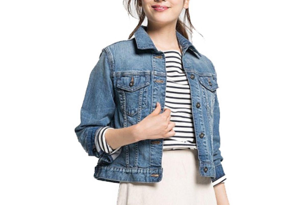 Women Denim Jacket in Light Blue