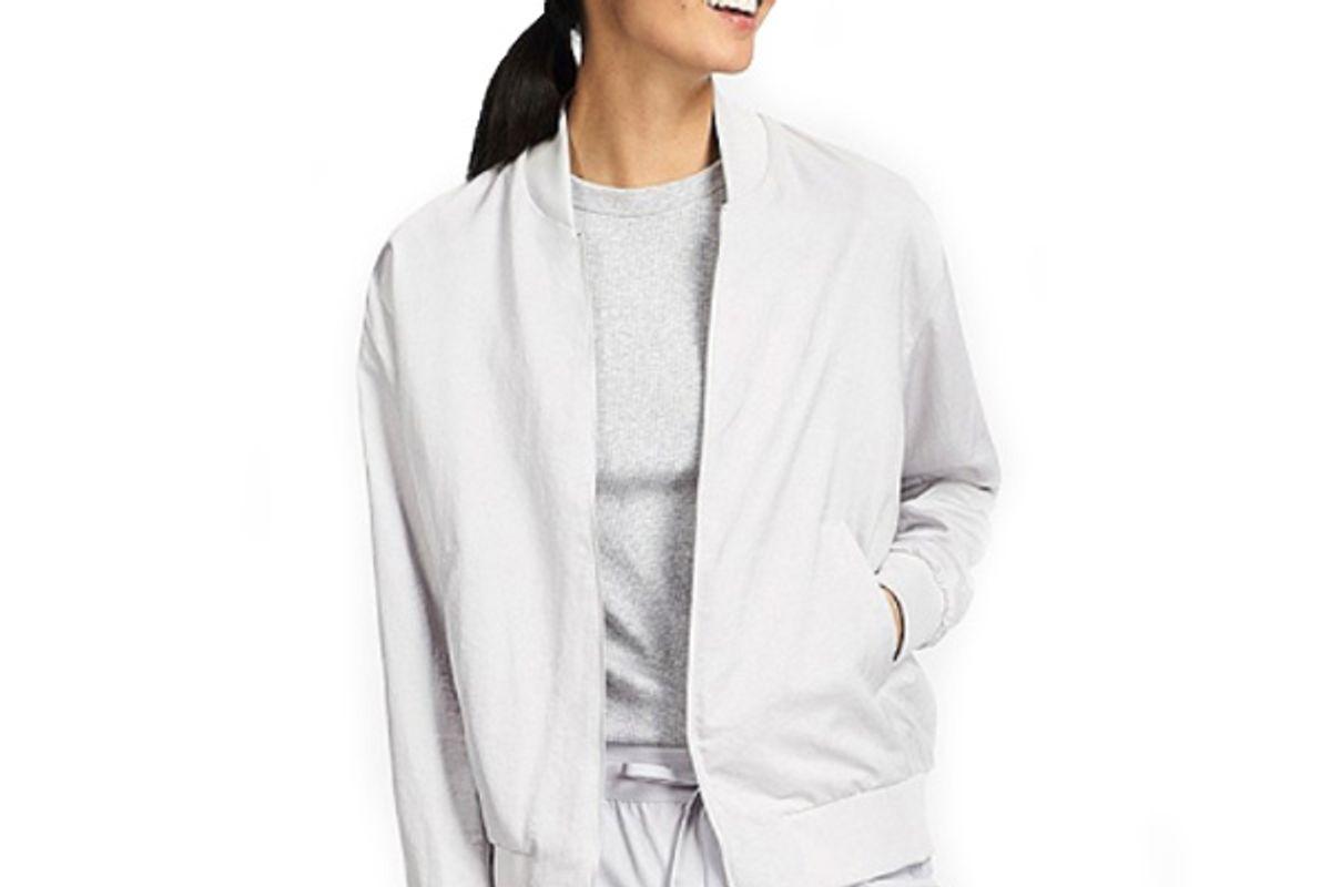 Women Soft Bomber Jacket in White