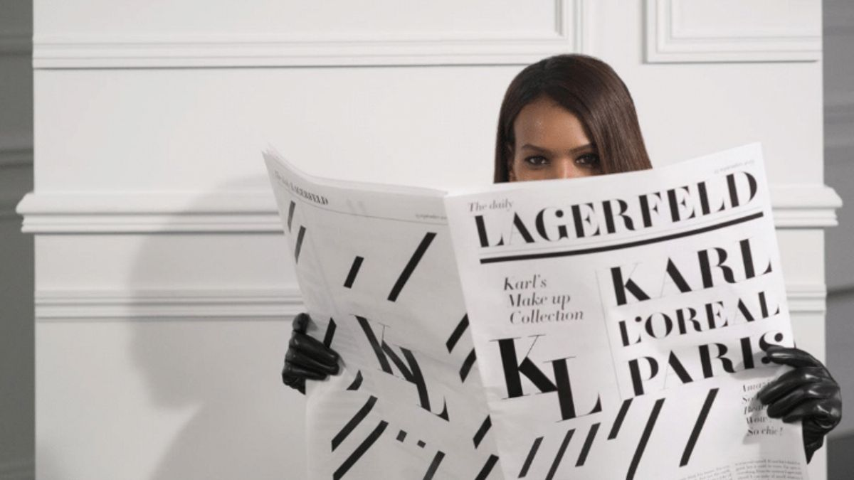 karl lagerfeld x l'oreal launching makeup collection