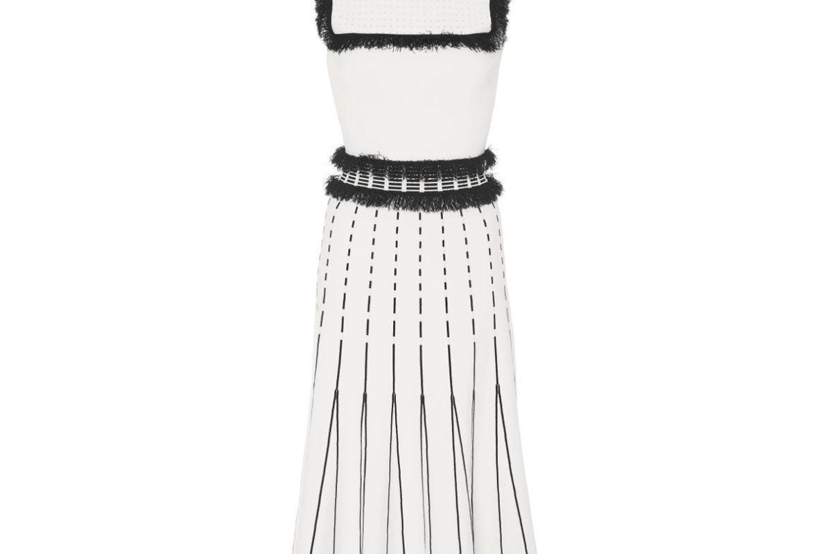 prabal gurung sleeveless mock neck flare dress