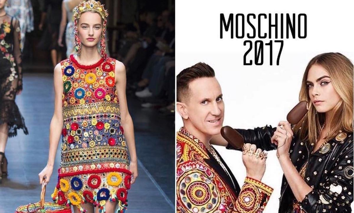 Stefano Gabbana Now Thinks Jeremy Scott's Designs Look Like Dolce & Gabbana's, Too