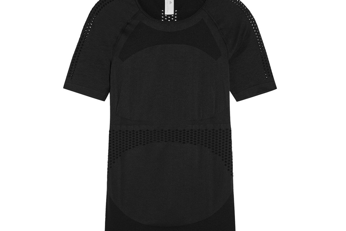 Perforated Stretch-Jersey T-Shirt