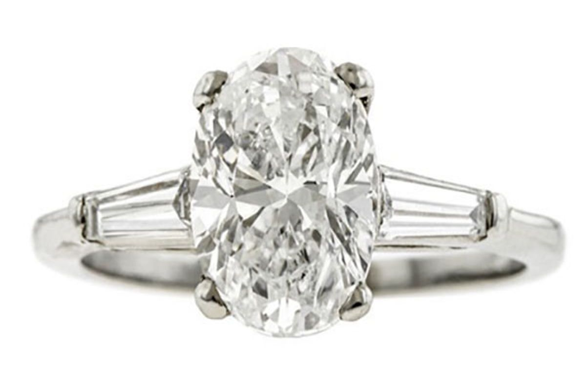 Vintage Engagement Ring, Oval