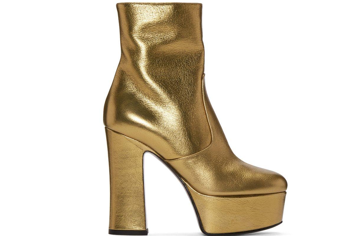 Gold Platform Candy Boots