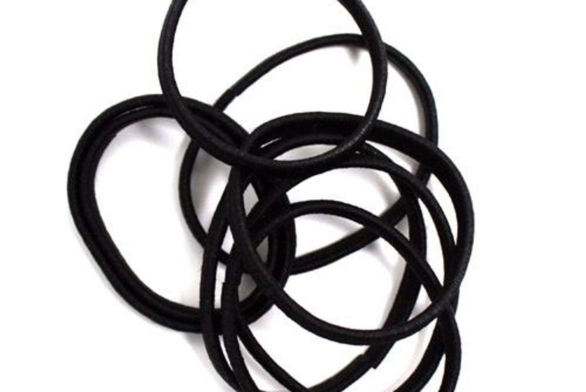 No-Snag Flat Black Elastics
