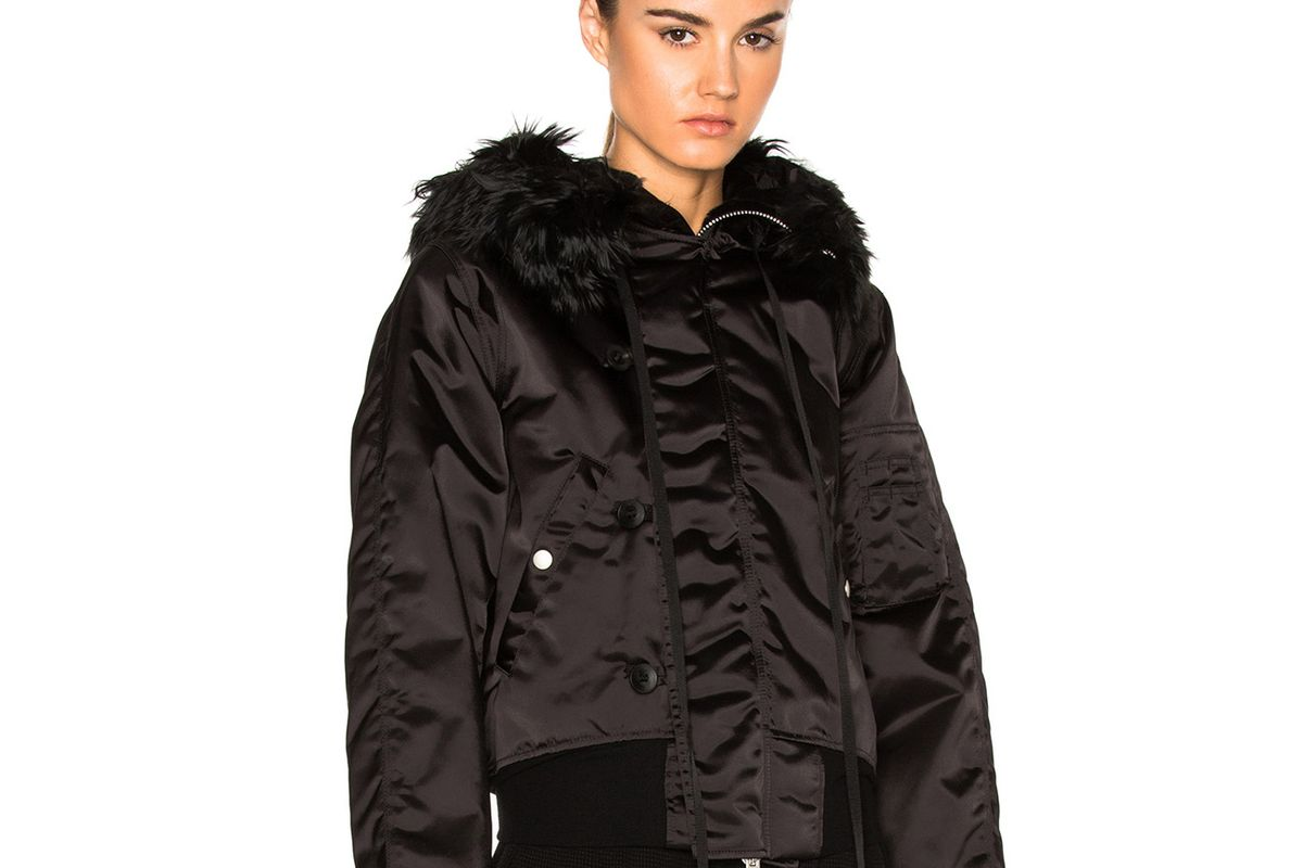 Bomber Fur Hooded Jacket