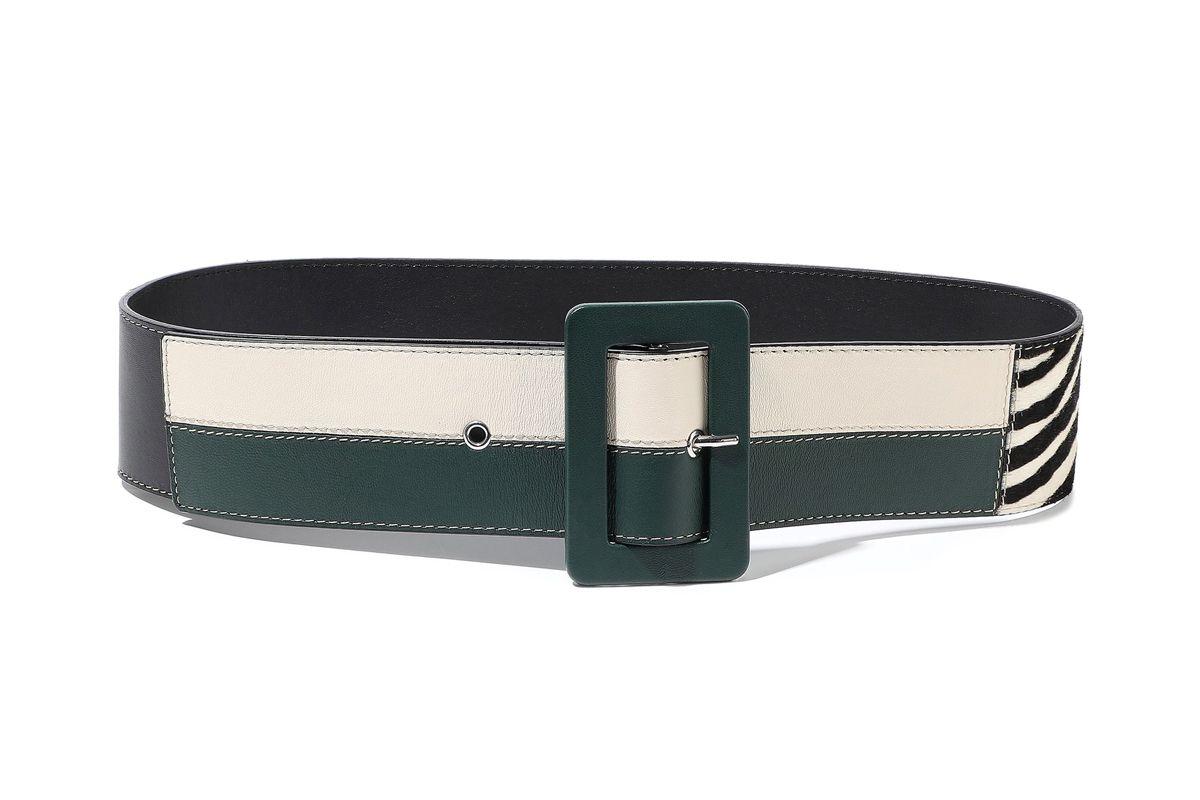 marni calf half and leather belt