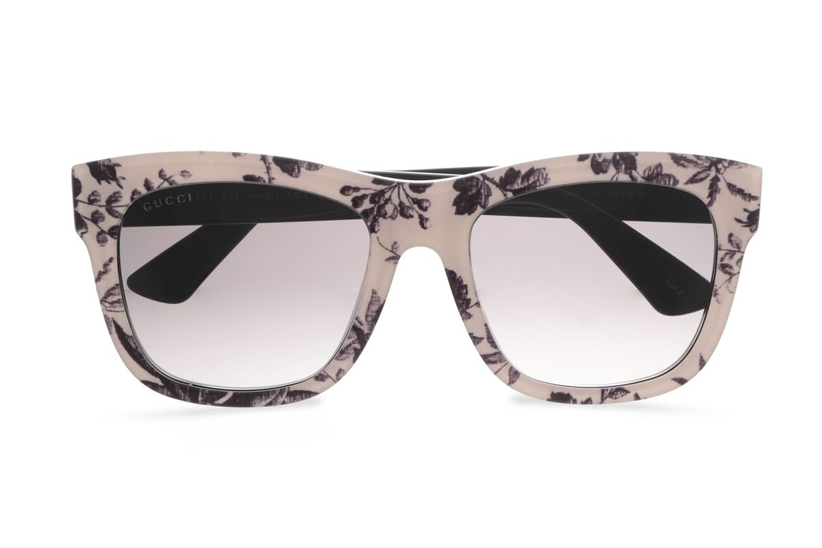 gucci floral print sunglasses