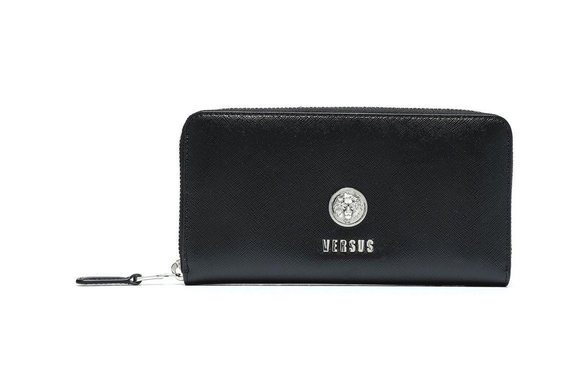 versus versace textured leather wallet