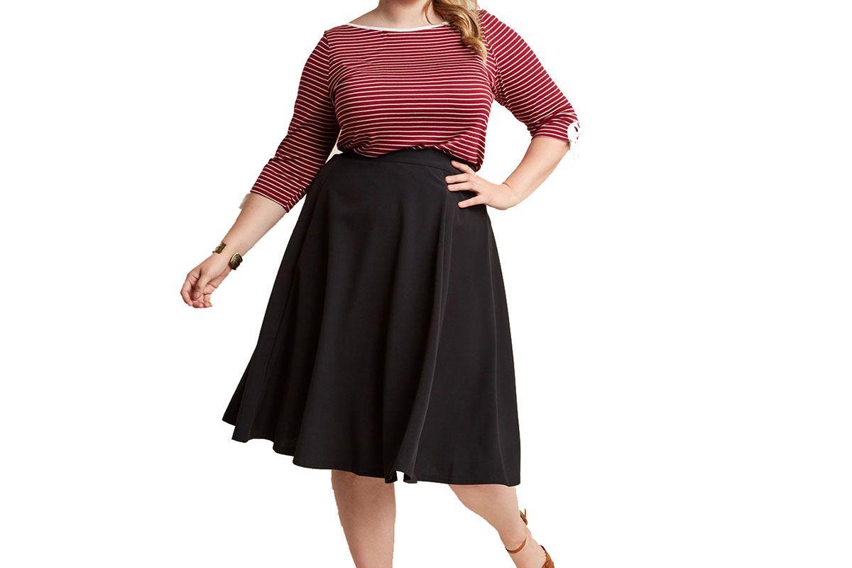 Bugle Joy Midi Skirt in Black