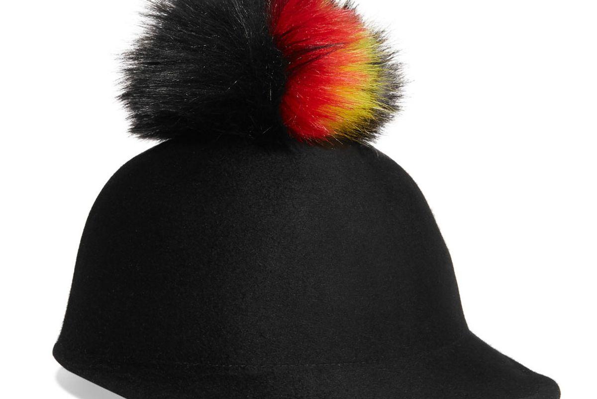 Bo Faux Fur-Trimmed Wool-Felt Cap