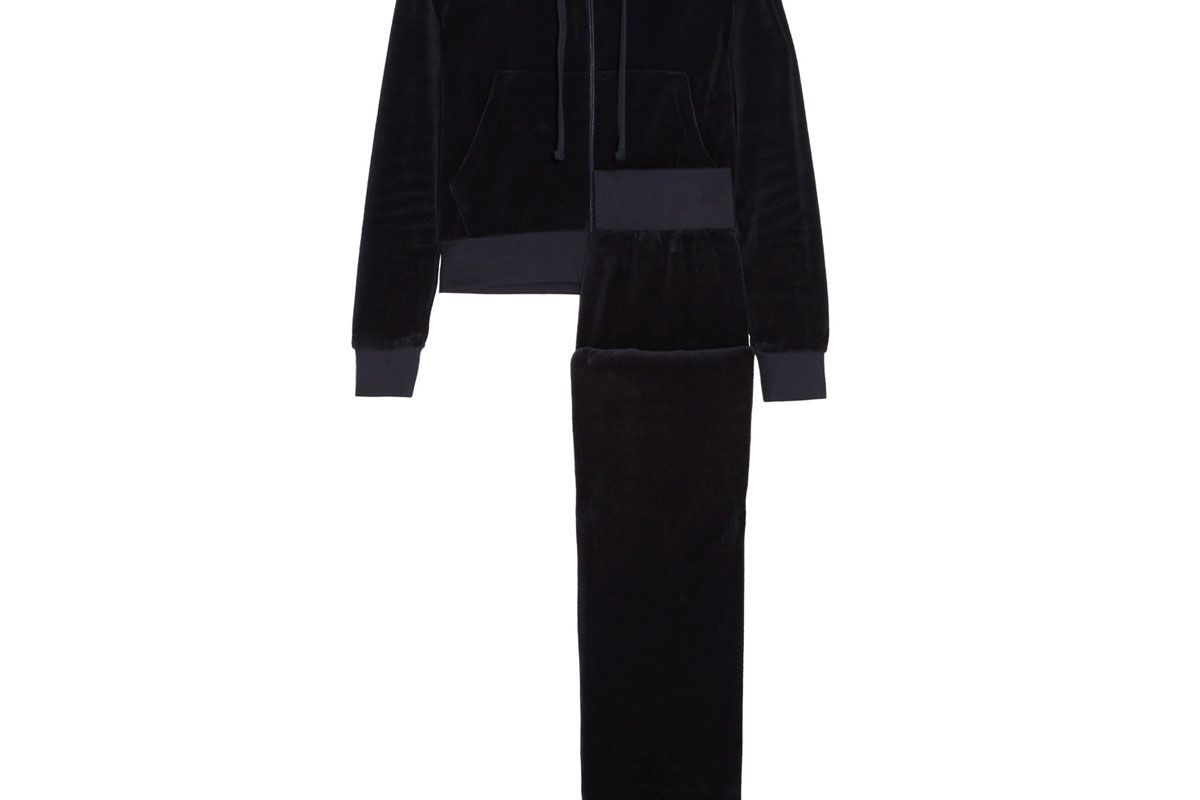 + Juicy Couture Embroidered Cotton-Blend Velvet Tracksuit