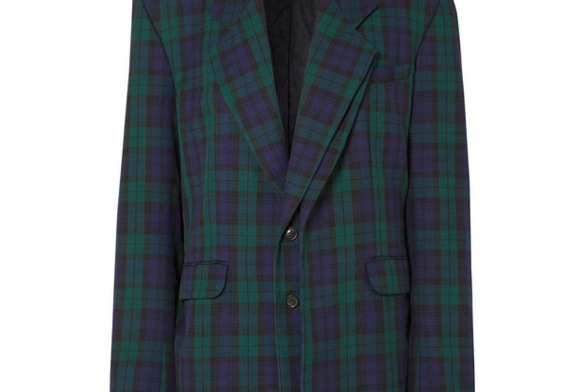 y/project oversized plaid twill blazer