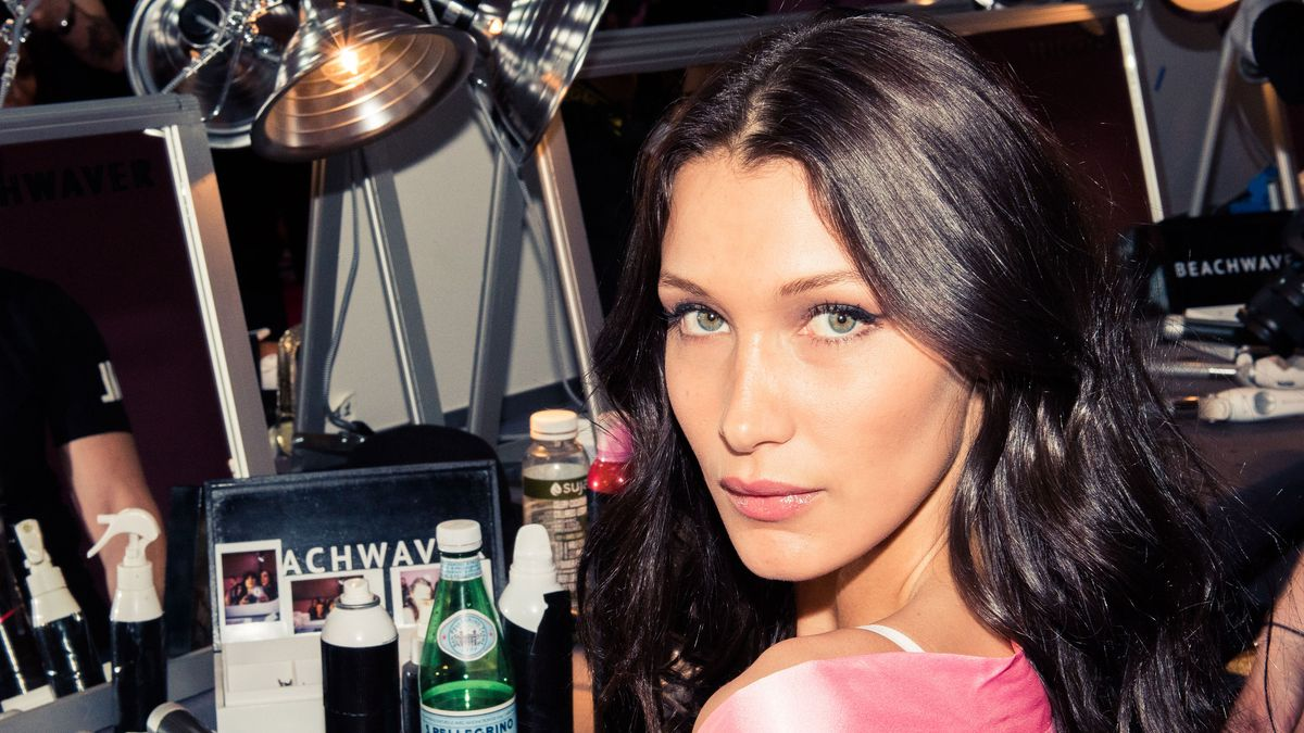 Backstage at the Victoria's Secret Show with Bella Hadid