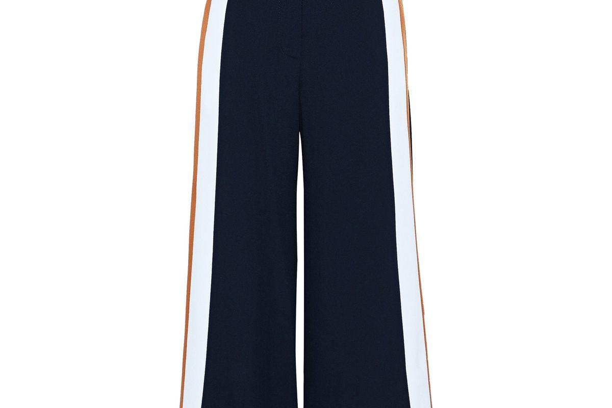 peter pilotto striped crepe wide leg pants